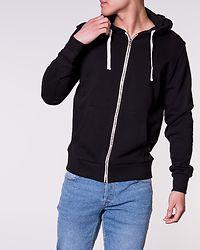 Holmen Sweat Zip Hood Black
