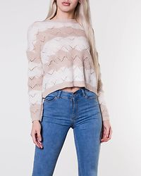 Karo Stripe Pullover Pumice Stone/Cloud Dancer