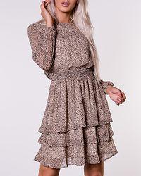 Nicoline Dress Camel/Stone/Black