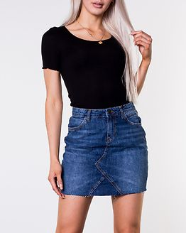 Ayla Short Denim Skirt Medium Blue Denim