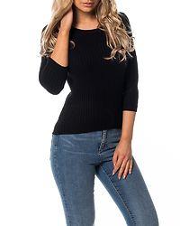 Rimi O-Neck Knit Top Noos Black