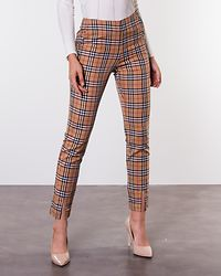 Franka Wowen Sleek Pants Checked/Beige/Red