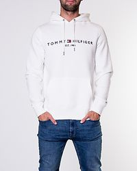 Core Tommy Logo Hoody Snow White