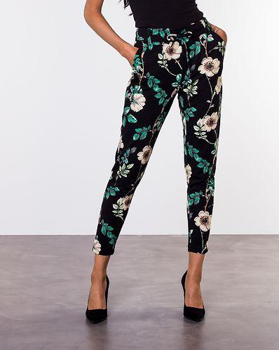 Poptrash All Over Print Pant Black Green Flower 3013b12410e62