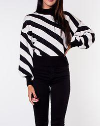Labi Stripe Mockneck Blouse Black/Pristine
