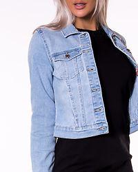 Faith Slim Denim Jacket Light Blue Denim