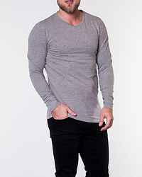 Basic O-Neck Tee Light Grey Melange