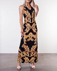 Victory Long Halterneck Dress Black/Patterned
