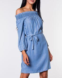 Samantha Off Shoulder Dress Medium Blue Denim