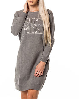 Dalis True Icon Sweat Dress Light Grey Heather