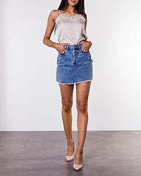Caya Raw Edge Skirt Light Blue Denim
