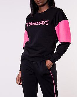 Mixie O-Neck Sweat Black/Knockout Pink