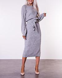 Amira Knitted Dress Grey Melange