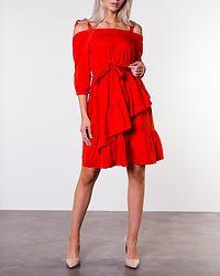 Scarlett Frill Dress Red