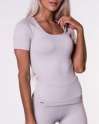 Cloud Ribbed T-shirt Light Grey