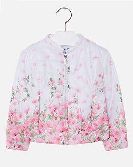 Flower Windbreaker Jacket Rose