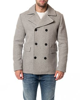 Merce Wool Peacoat Light Grey Melange