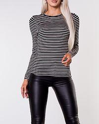 Ava Long Sleeve Stripe Top Pristine/Black