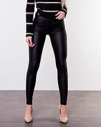 Loulou Pushup Coated Pants Black