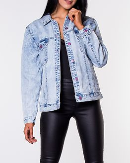 Caroline Pop Print Jacket Medium Blue Denim