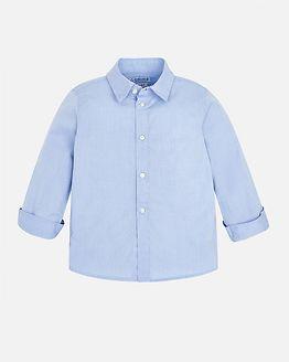 Jacquard Shirt Light Blue