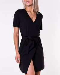 Natrine Wrap Dress Black
