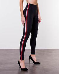 Pamela Piping Leggings Black/Fiery Red