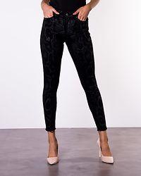 Blush Snake Denim Jeans Black