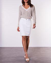 Hot Nine Pencil Skirt Bright White Denim