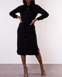 Safina Midi Long Sleeve Dress Black
