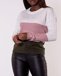 Elanora Stripe Pullover Forest Night/Colorblock