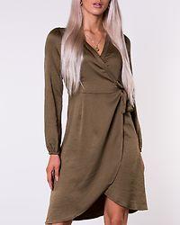 Gamma Wrap Dress Military Olive