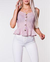 Jen Strappy Ruffle Top Red/Cream Stripe
