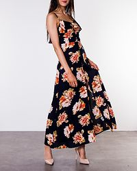 Katrina Strappy Midi Dress Navy/Floral