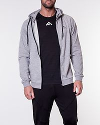 Travis Sweat Zip Hood Light Grey Melange/Black