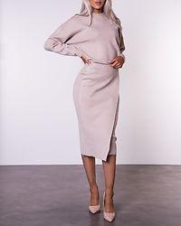 Olivinja Knit Midi Wrap Skirt Natural Melange