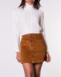 Amazing Corduroy Skirt Rustic Brown