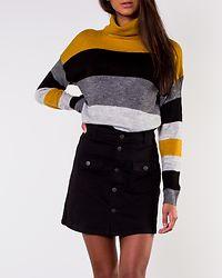 Nora Treats Rollneck Pullover Harvest Gold/Stripes