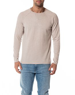 Clash Linen Crew Neck Dove /Twisted