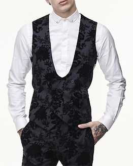 Paprika Waistcoat Charcoal/Black