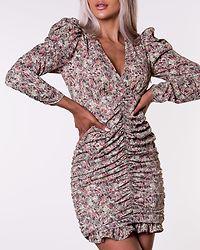 Kendall Rouching Dress Pumice Stone/Green