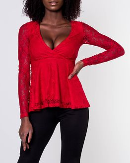Elina Lace Top Red