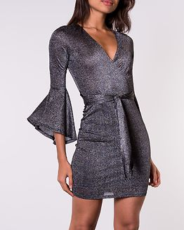 Avery Sparkling Dress Black/Silver