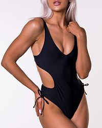 Side Straps Swimsuit Black