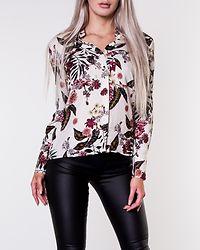 Lulu Collar Shirt White/Flowers