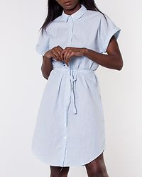 Jane Shirt Dress Snow White/Cool Blue