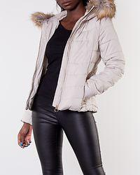 New Ellan Quilted Fur Hood Jacket Pumice Stone