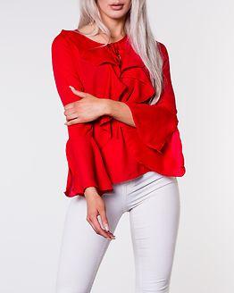 Alexis Ruffle Shirt Red