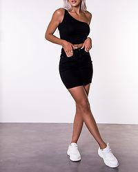 Hot Seven Short Skirt Denim Black
