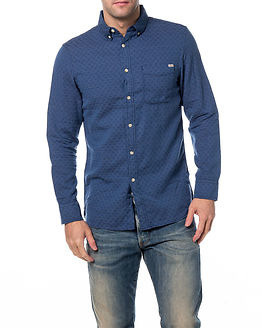 Matthew Shirt one Pocket Medium Blue